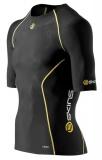 SKINS A200 Mens Short Sleeve Top - Black