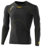 SKINS A400 Mens Long Sleeve Top - Black/Yellow