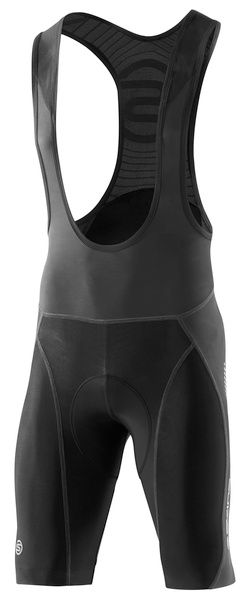 SKINS C400 Mens bib Shorts - Black/Grey