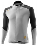 SKINS C400 Mens Long Sleeve Jersey - White/Grey