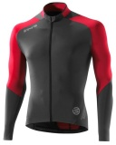 SKINS C400 Mens Long Sleeve Jersey - Red/Grey