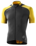 SKINS C400 Mens Short Sleeve Jersey - Yellow/Grey
