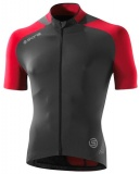 SKINS C400 Mens Short Sleeve Jersey - Red/Grey