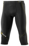 SKINS A400 Mens 3/4 Tights - Black/Yellow