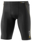 SKINS A400 Mens Half Tights, Black/Yellow