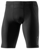 SKINS A400 Mens Half Tights, Black/Charcoal