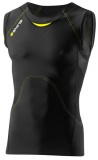 SKINS A400 Mens Sleeveless Top, Black/Yellow