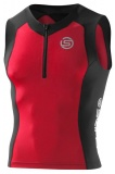 SKINS TRI400 Mens Sleeveless Top Black/Red