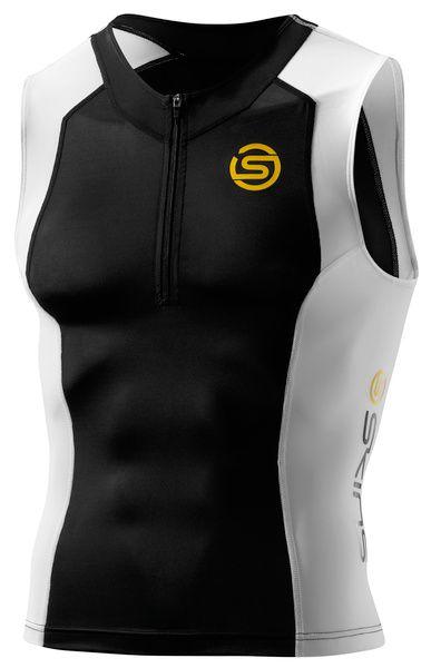 SKINS TRI400 Mens Sleeveless Top Black/White