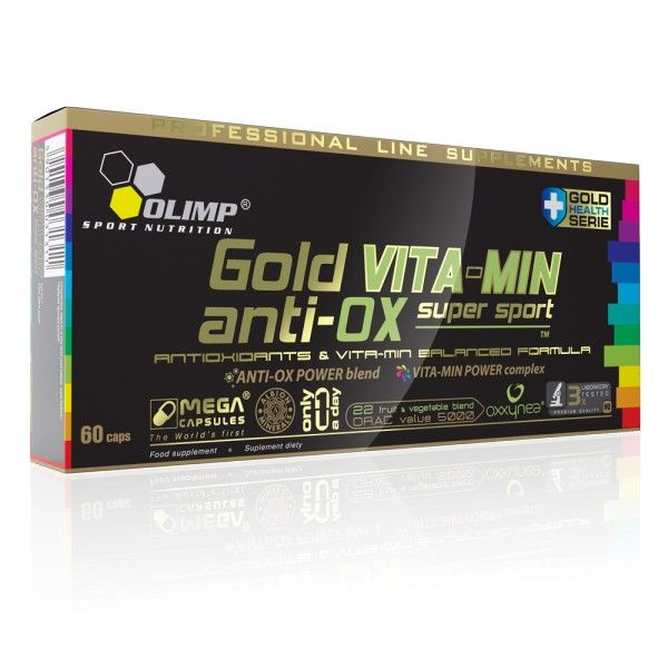 Gold Vita-Min anti-OX supersport, 60 kapslí, Olimp, exp. 6/2019 OLIMP Sport Nutrition