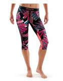SKINS DNAmic Womens 3/4 Capri Tights - Junkyard (dámské kompresní kalhoty SKINS)
