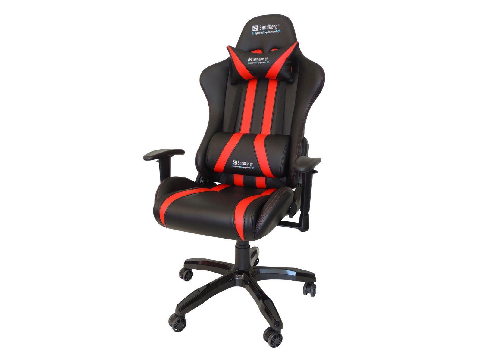 židle SANDBERG Commander - černočervená