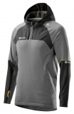 SKINS PLUS Nimbus Mens Long Sleeve Hoodie - Black/Pewter