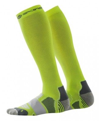 Podkolenky SKINS Essentials Compression Socks - Fluro Citron/Pewter