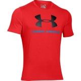 Pánské bavlněné triko Under Armour oranžové černé, XL