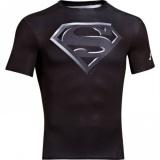 Pánské Kompresní Tričko Under Armour Superman Černé, S