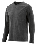 SKINS PLUS Micron Mens Long Sleeve Tee - Black/Marle
