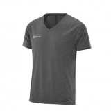 SKINS PLUS Vector Mens V Neck Short Sleeve Tee - Black/Marle