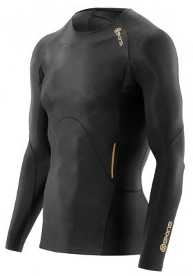 Kompresní prádlo SKINS A400 Mens Long Sleeve Top - Black (pánské aktivní kompresní triko s dlouhým rukávem)