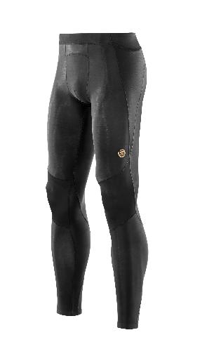 SKINS A400 Mens Long Tights - Black (pánské aktivní kompresní dlouhé kalhoty)
