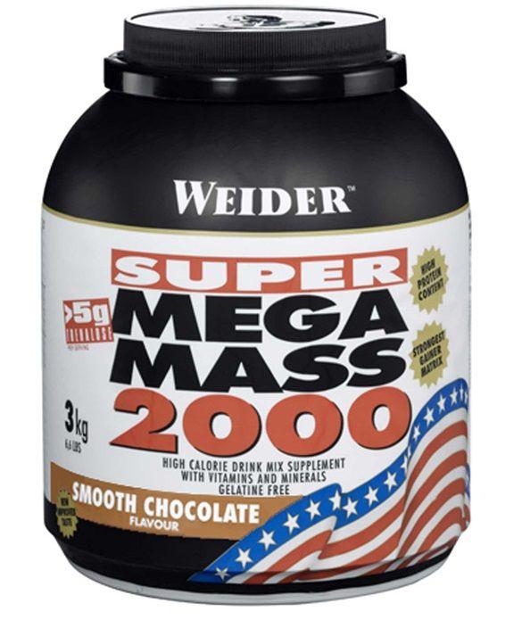 SUPER Mega Mass 2000, Gainer, Weider, 3000 g