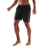 Trenky SKINS PLUS Mens Reflex Shorts 7 Inch - Black
