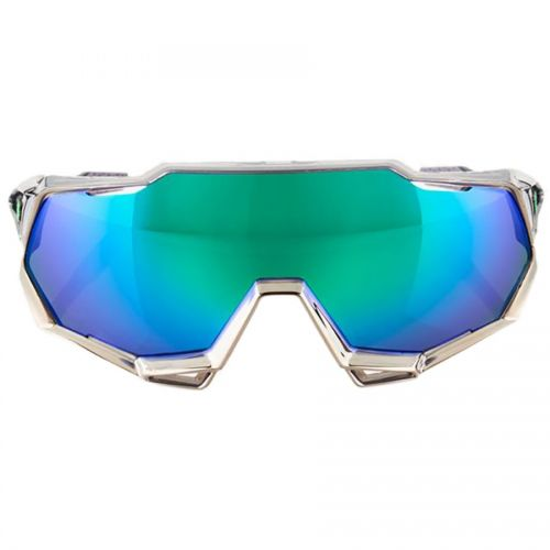Brýle 100% SpeedTrap Peter Sagan Chromium Gunmetal/Green Multilayer Mirror