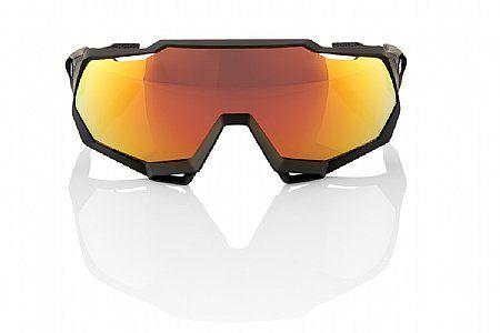Brýle 100% SpeedTrap Soft Tact Black/Hiper Red Multilayer Mirror