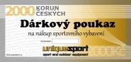 UniqueSport dárkový poukaz, 2000Kč