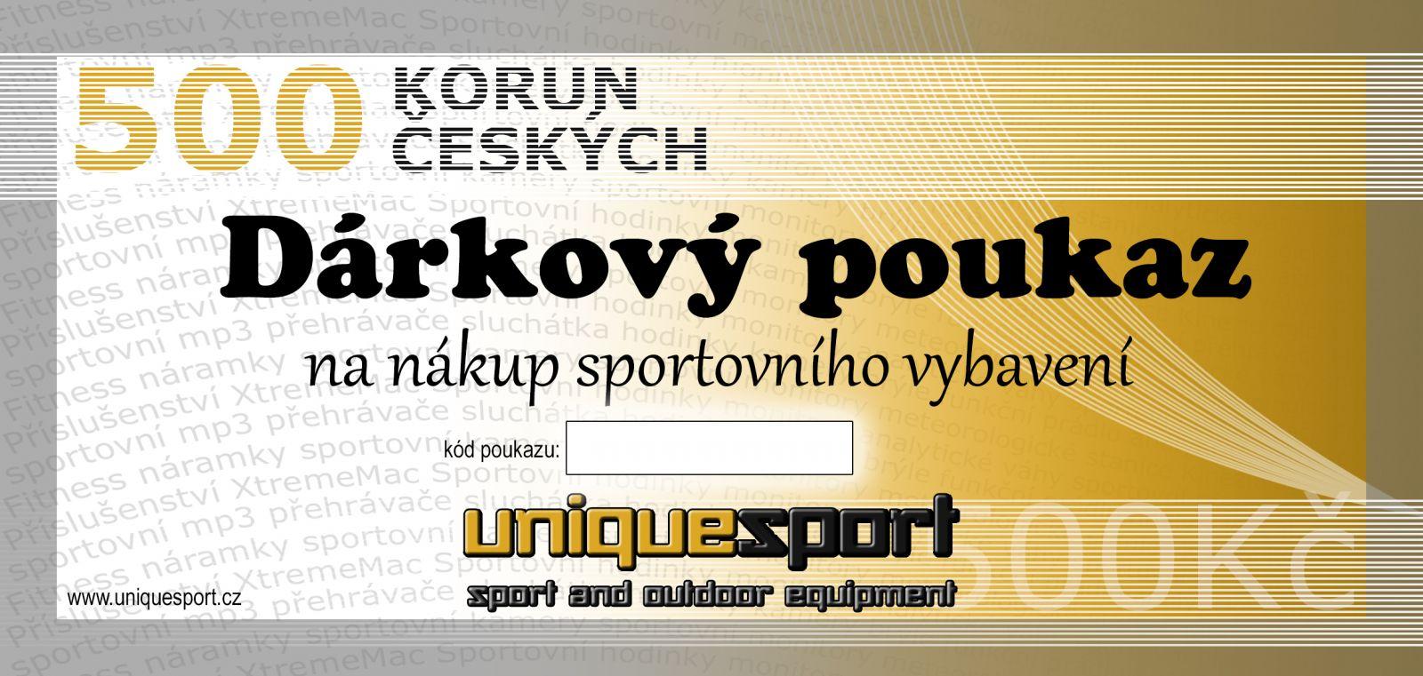 UniqueSport dárkový poukaz, 500Kč