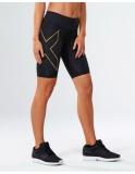 2XU Elite MCS Run kompresní šortky dámské, Black/Gold