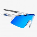 100% SpeedCraft SL - Matte White Blue/HiPer Blue Multilayer Mirror