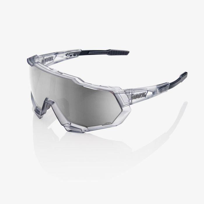 Brýle 100% SpeedTrap Translucent Crystal Grey/Hiper Silver Mirror