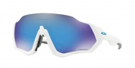 OAKLEY Flight Jacket - Polished White W/Prizm Sapphire