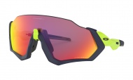 OAKLEY Flight Jacket - Matte Navy Retina Burn W/Prizm Road
