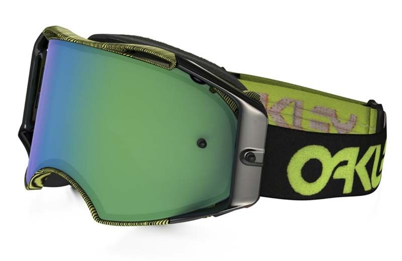 MX Brýle OAKLEY Airbrake MX Factory Pilot Thumbprint Green W/Jade Iridium
