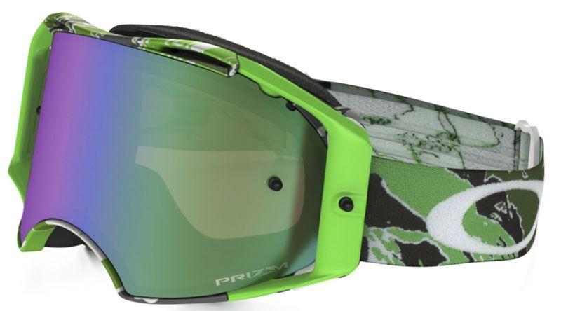 MX Brýle OAKLEY Airbrake MX Tomac Neon Green Camo W/Prizm Jade Iridium