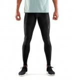 SKINS DNAmic Mens Long Tights - All Black (pánské kompresní kalhoty SKINS)