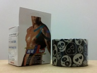 BB Tape s designem lebky - 5cmx5m