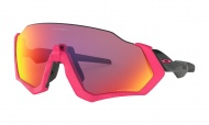 OAKLEY Flight Jacket - Neon Pink Polished Black W/Prizm Road