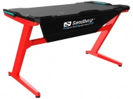 SANDBERG Fighter Gaming Desk, černočervená