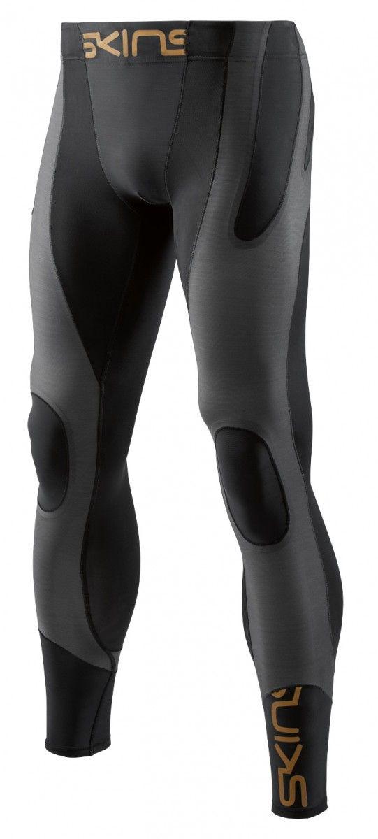 SKINS K-Proprium Mens Compression Long Tights, Charcoal (pánské kompresní dlouhé kalhoty SKINS)
