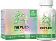 Reflex Nutrition Nexgen® PRO, 90 kapslí + Reflex Omega 3, 90 kapslí