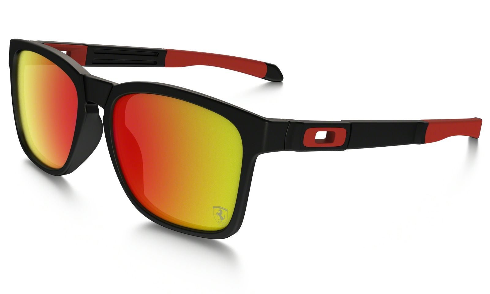 Brýle Oakley Catalyst Ferrari - Matte Black/Ruby Iridium