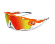 OAKLEY Jawbreaker - Atomic Orange/Fire Iridium Polarized