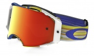 OAKLEY Airbrake MX Glitch White/Fire Iridium