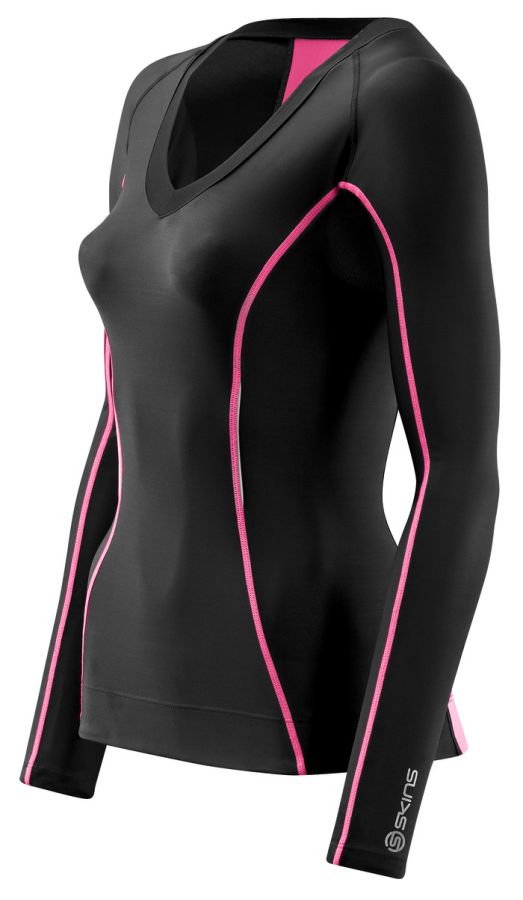 SKINS A200 Womens Long Sleeve Top - Pink
