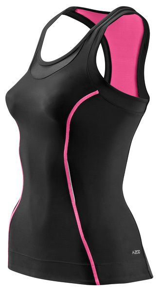 SKINS A200 Womens Racer Back Top - Pink