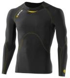 SKINS A400 Mens Long Sleeve Top - Black/Yellow
