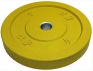 Bumper plate kotouč, Riot, 15 kg, Žlutý